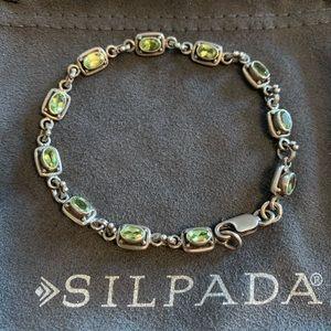 RARE Silpada peridot & sterling silver bracelet